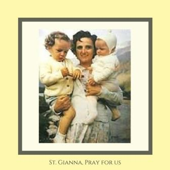 Holy Card Image of St. Gianna